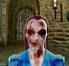 An image of a beaten Suresha Hawke taken from video footage.